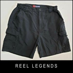 Reel Legends Men Cargo Shorts Size 36 Gray
